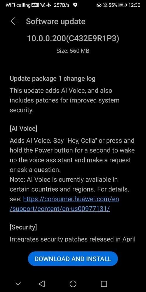 Huawei Mate 10 Pro April 2021 update