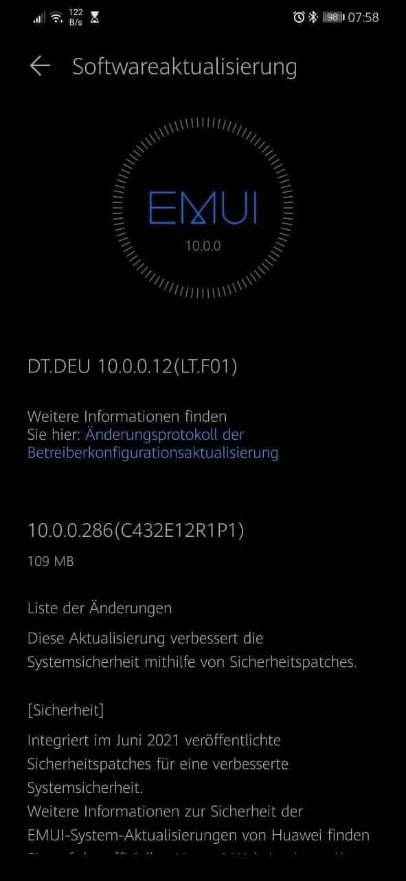 Huawei Mate 20 Lite June update