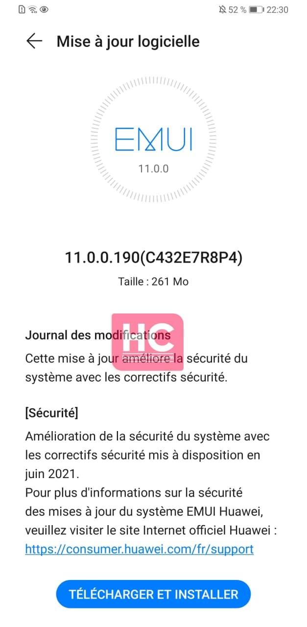 Huawei Mate 30 Pro June 2021 security update