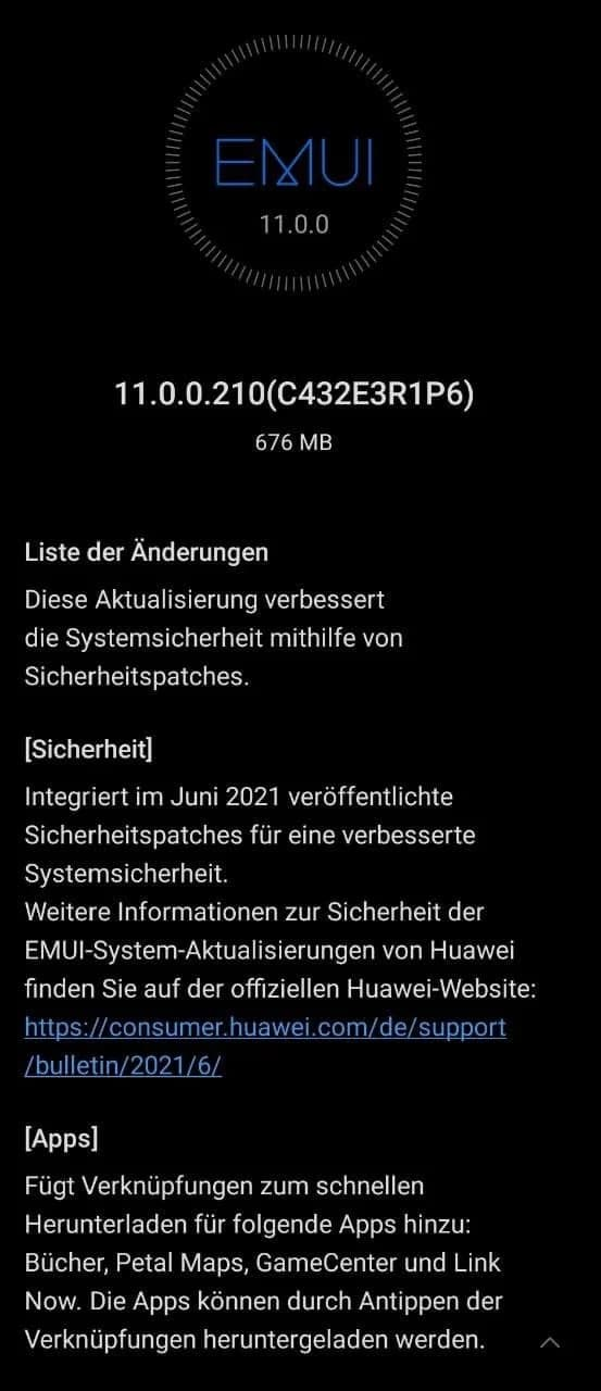 Huawei MatePad Pro 10.8 June 2021 update