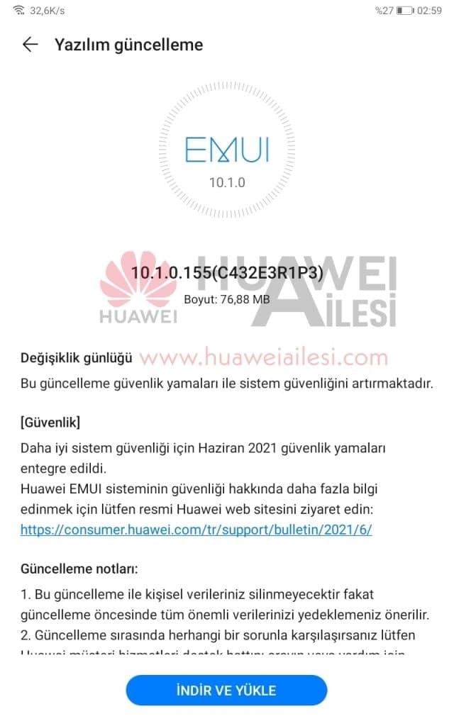 MatePad T8 June 2021 update