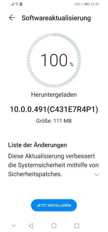 huawei p30 lite new edition update