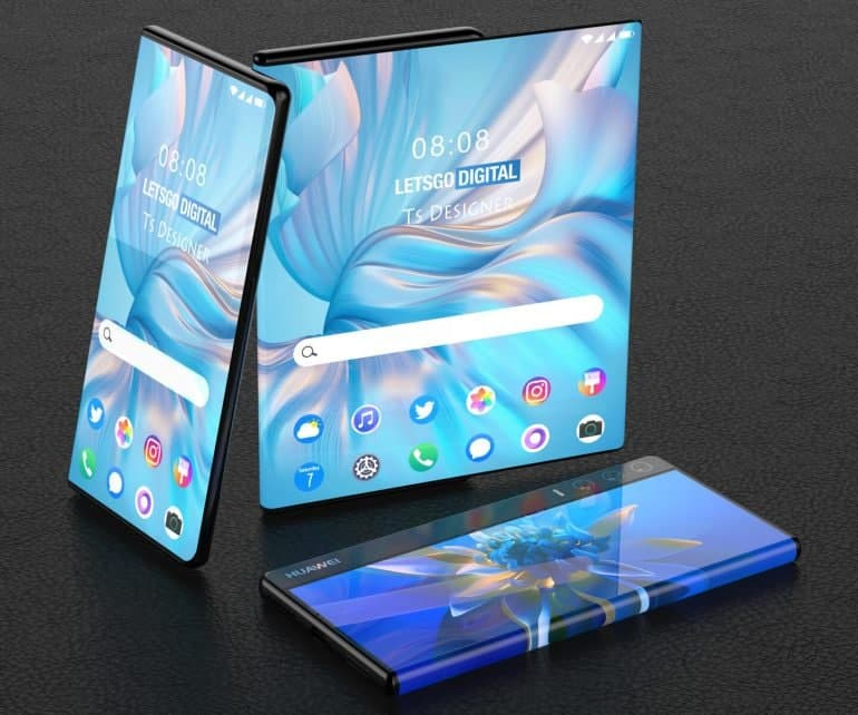 Huawei rollable phone renders