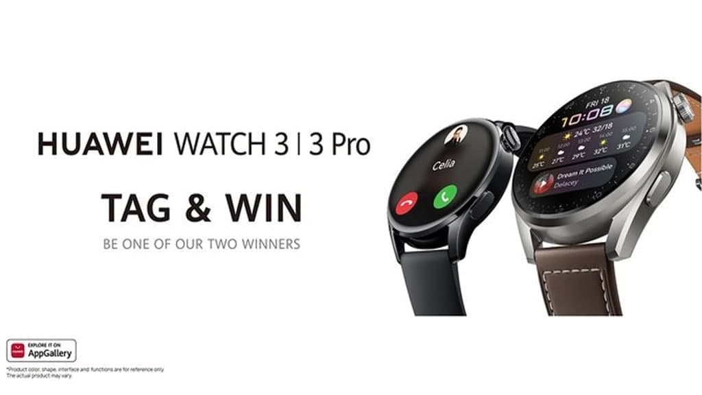 Huawei Watch 3 Tag and Win contest