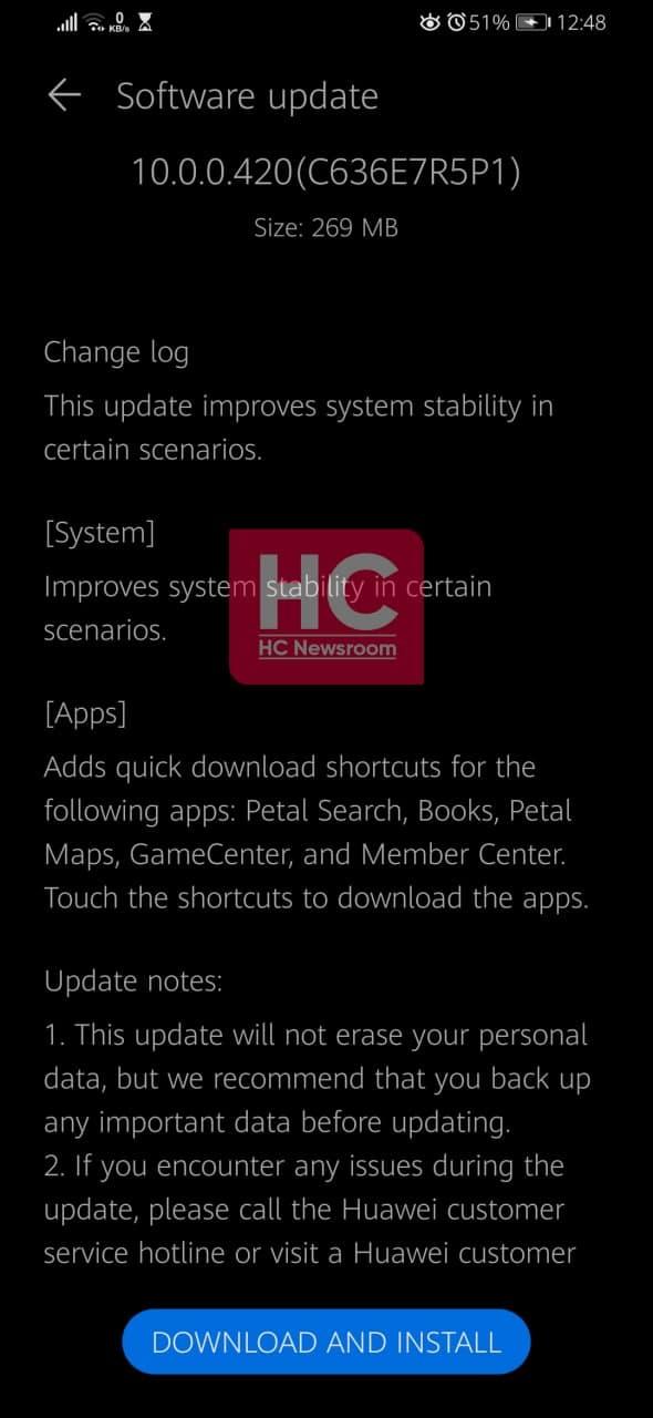 Huawei Y9 Prime 2019 New app update