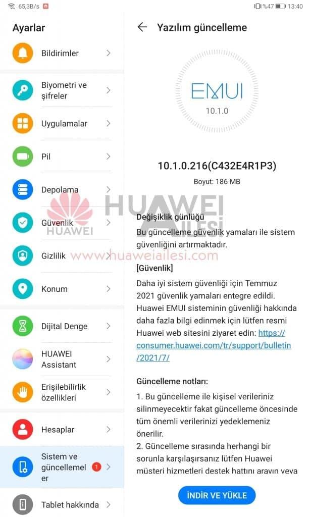 MatePad 10.4 July 2021 update
