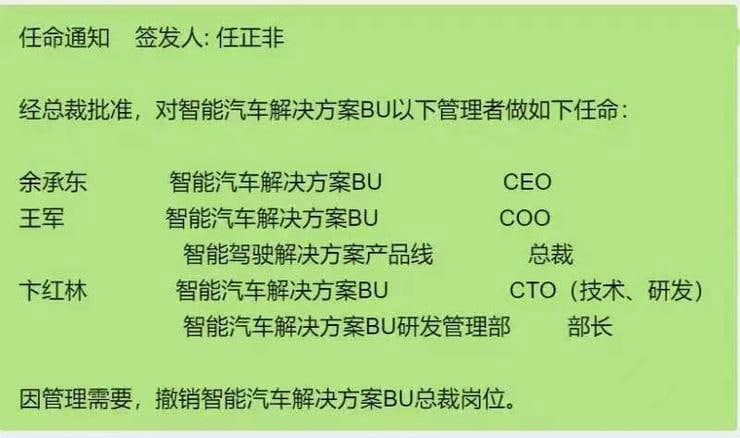 Huawei Smart Car Solution New Appointment