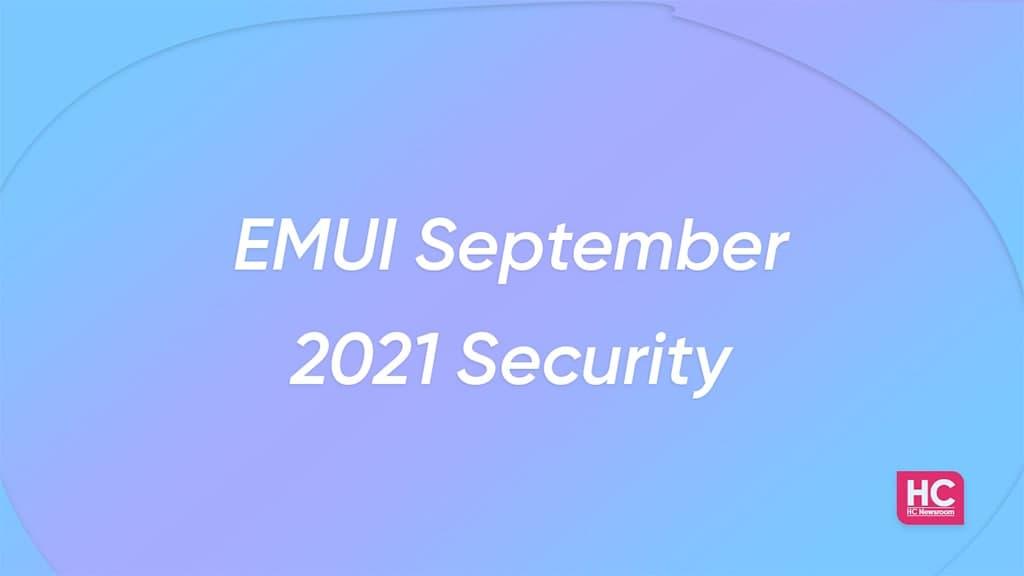 EMUI september 2021 security