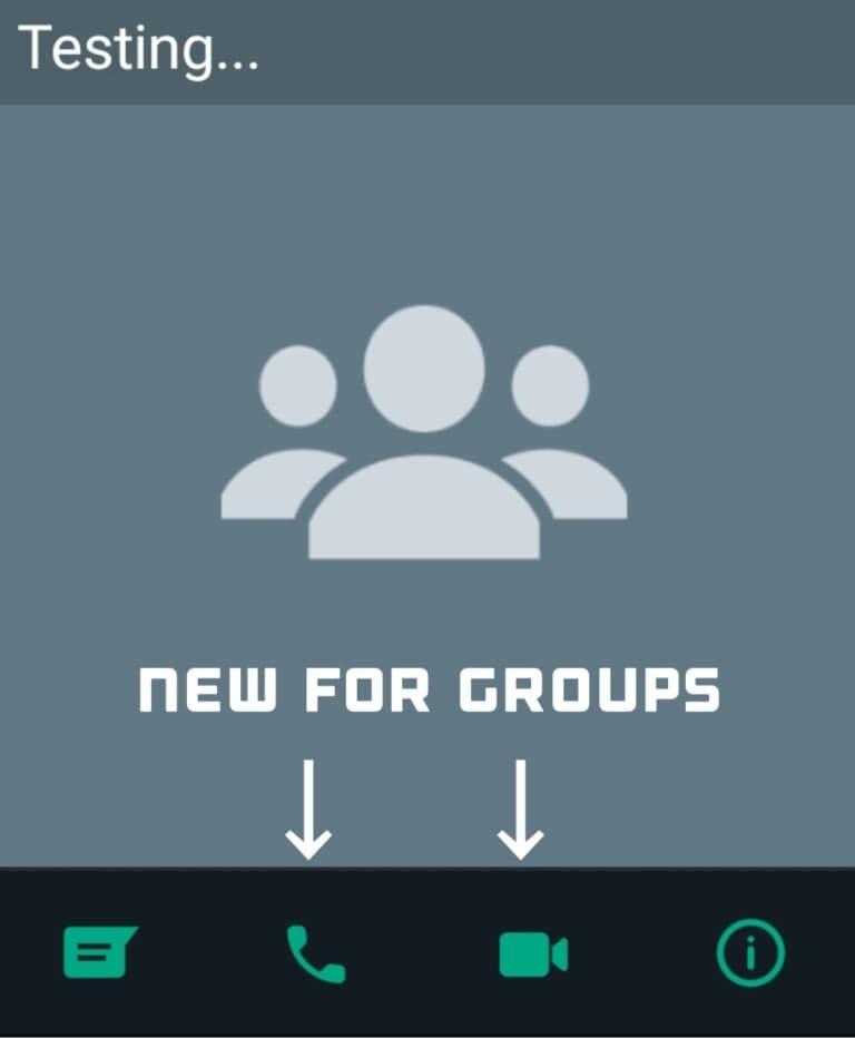 WhatsApp Group Call Shortcuts