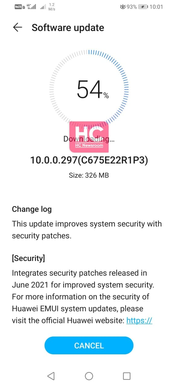 honor 10 lite july 2021 update