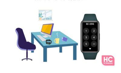 Huawei Band 6 Lock screen feature