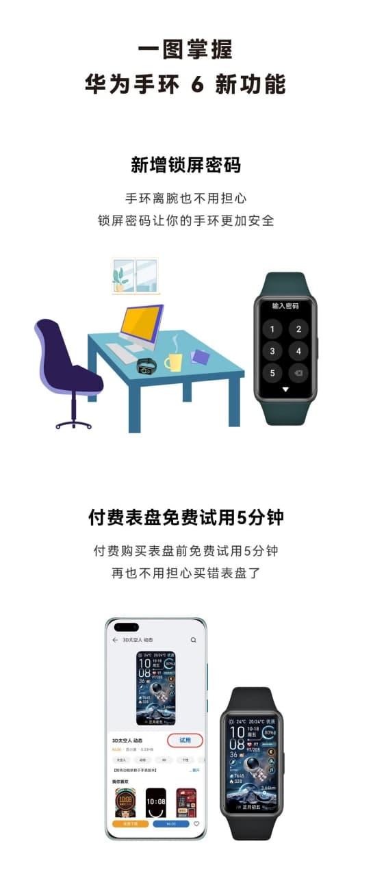 Huawei band 6 screen lock feature
