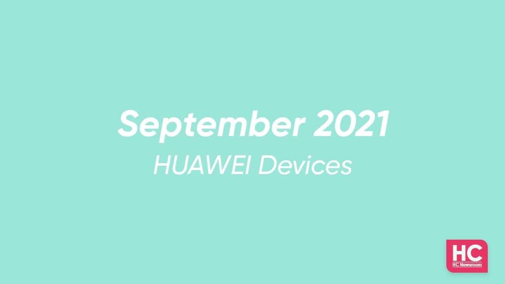 EMUI September 2021 devices