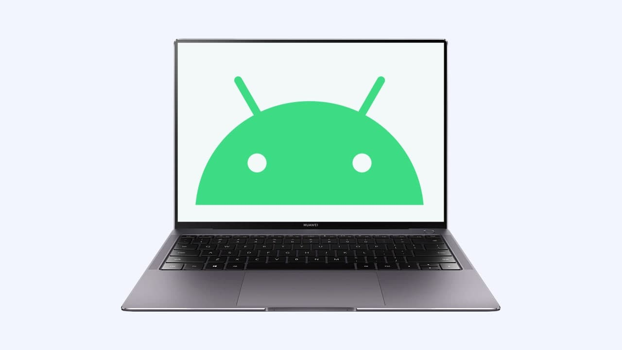 Huawei Laptop with Android app
