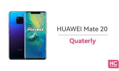 huawei mate 20 quarterly