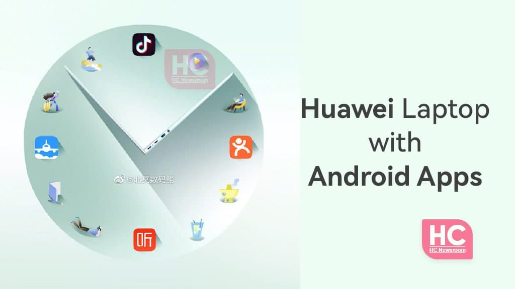 Huawei matebook with mobile apps