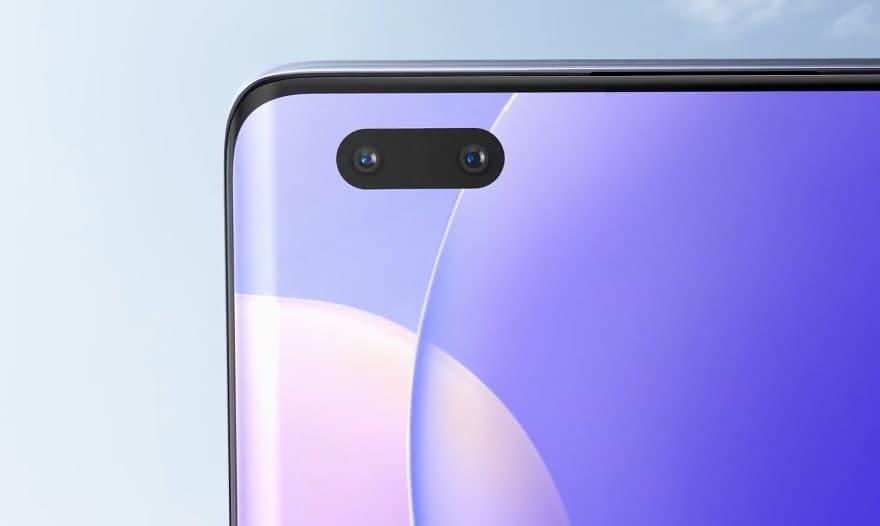 Huawei Nova 9 dual selfie camera