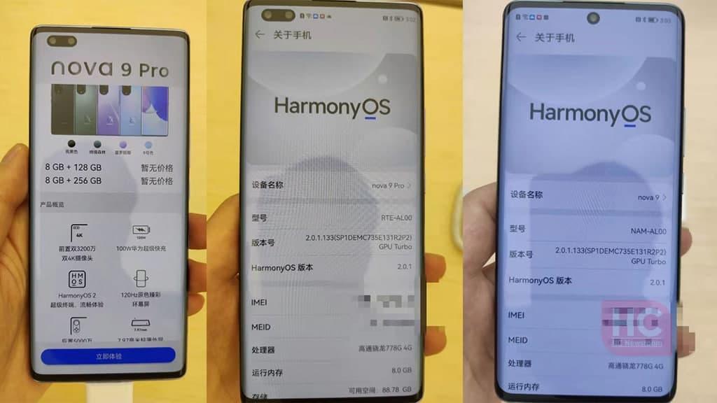 Huawei Nova 9 Live images