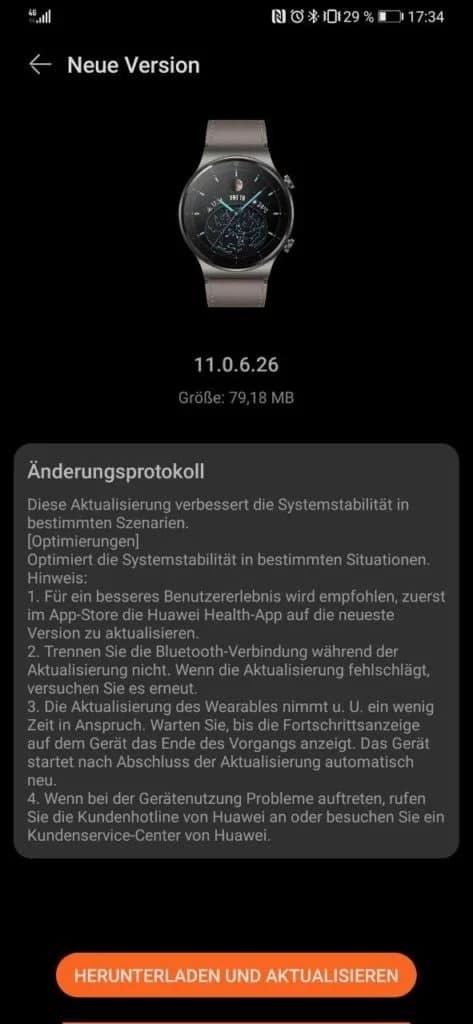 Huawei Watch GT 2 Pro September 2021 update