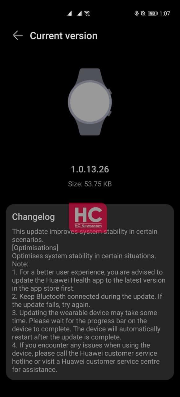 Huawei Watch Gt 2 1.0.13.26