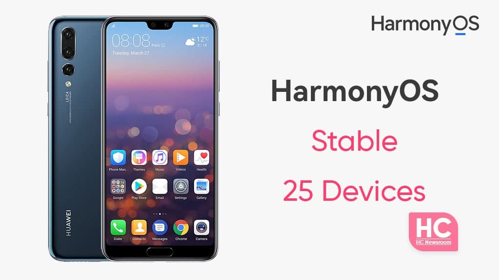 25 huawei devices stable HarmonyOS