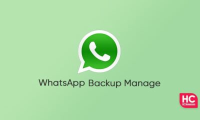 WhatsApp backup manage