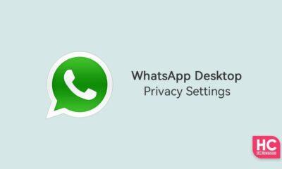 WhatsApp Desktop privacy settings
