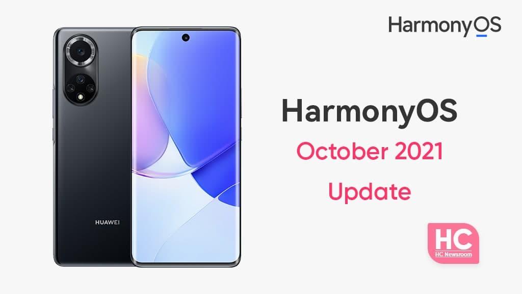 Huawei Nova HarmonyOS October 2021 update