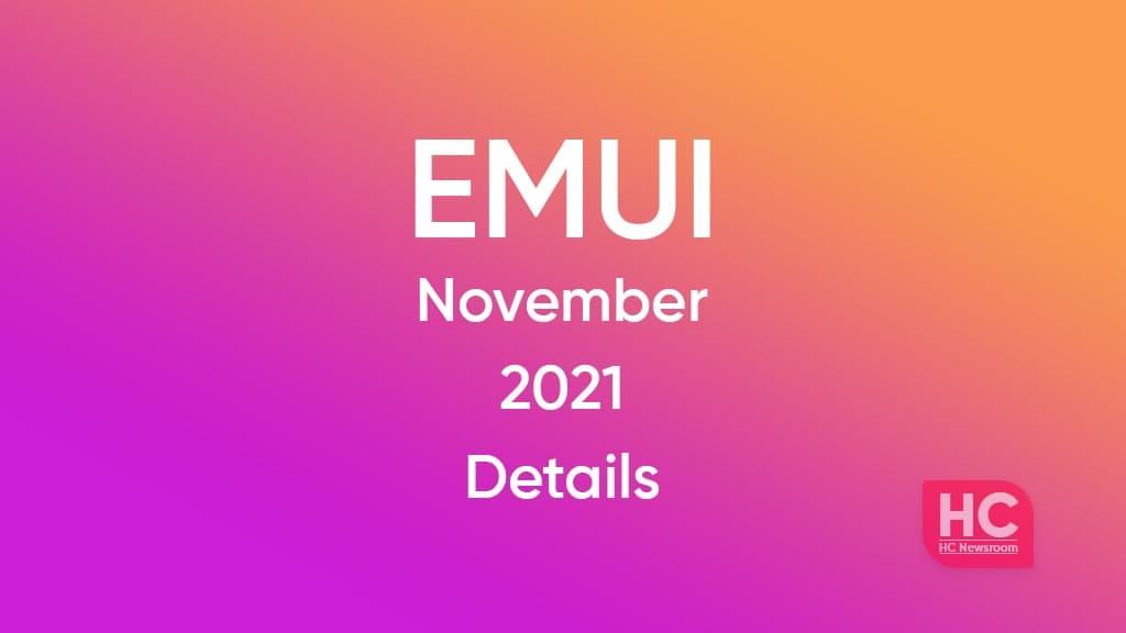Huawei EMUI November 2021 update