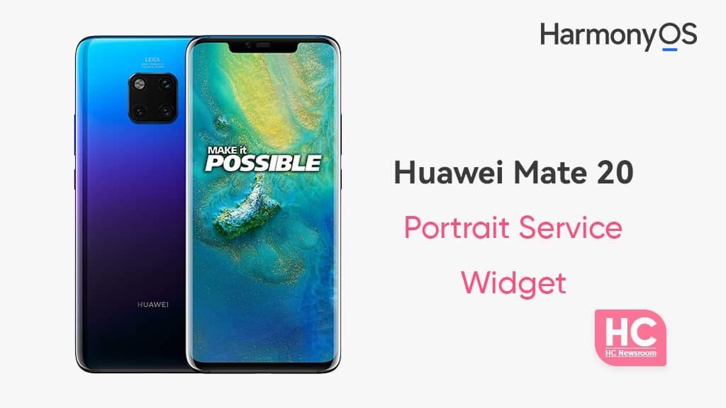 Huawei Mate 20 Pro portrait camera widget