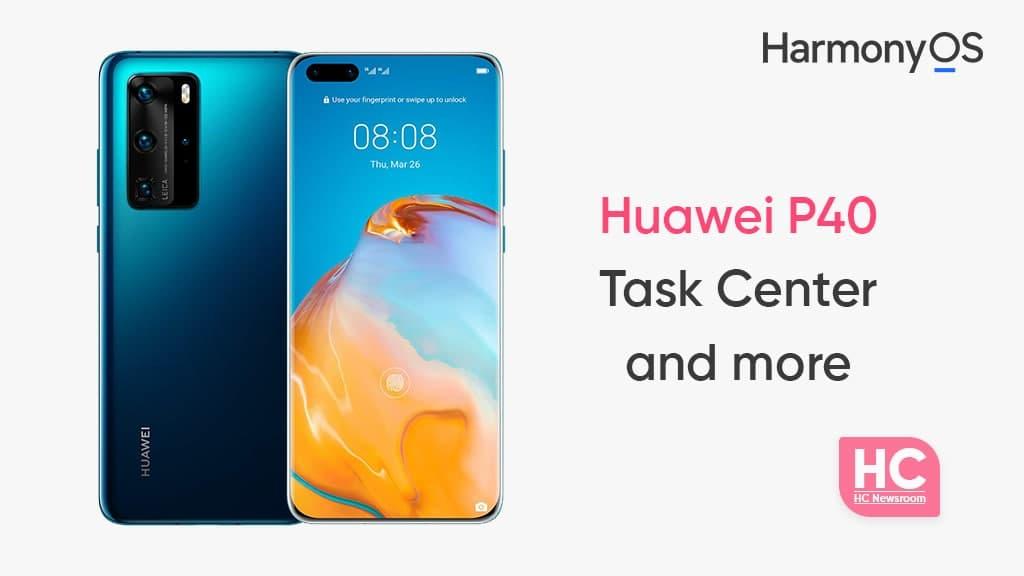 Huawei P40 cross device task center