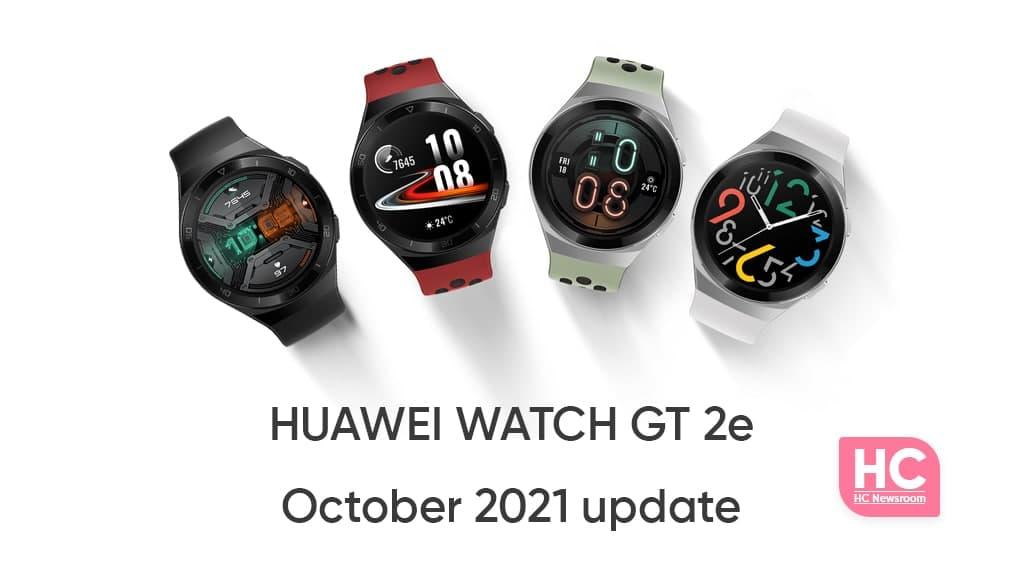 Huawei Watch GT 2e October 2021 Update