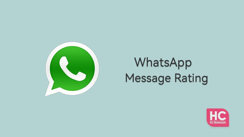 WhatsApp Message rating