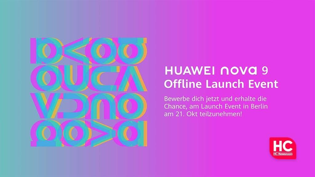 Huawei Nova 9 launch Berlin